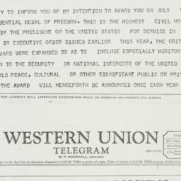 Telegram: 1963 July 1