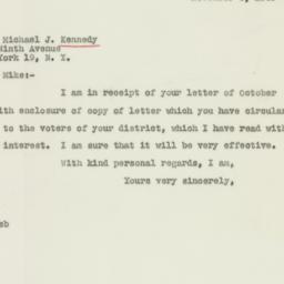 Letter : 1946 November 3