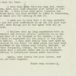 Letter: 1949 November 1