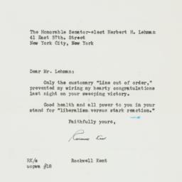 Letter: 1949 November 9
