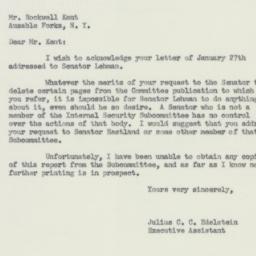Letter: 1956 February 2