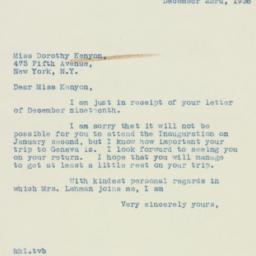 Letter : 1938 December 23