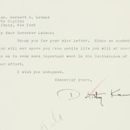 Letter : 1942 November 10