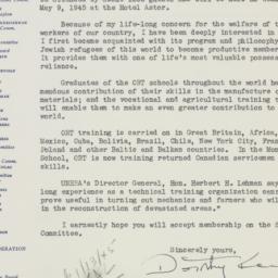 Letter : 1945 January 8