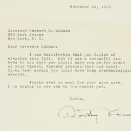 Letter : 1946 November 20