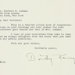 Letter : 1948 April 1