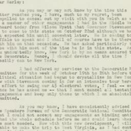 Letter : 1952 October 7