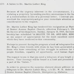 Telegram : 1960 January 13