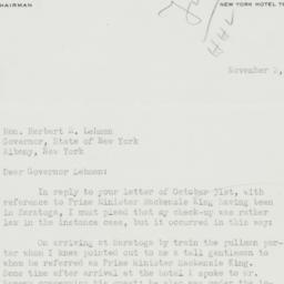 Letter : 1942 November 2