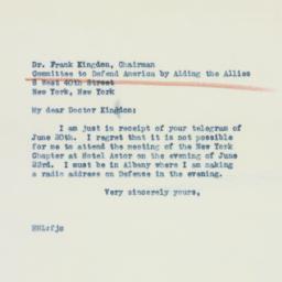 Letter : 1941 June 21