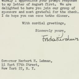 Letter : 1947 August 14