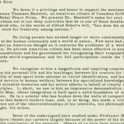 Letter: 1952 January 2
