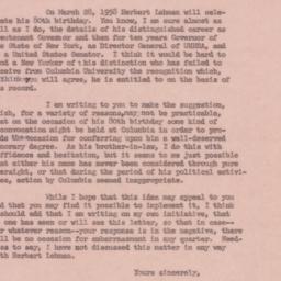 Letter : 1957 December 19