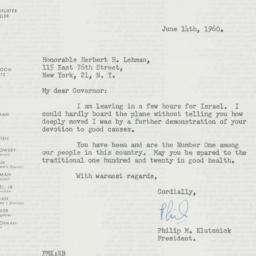 Letter : 1960 June 14