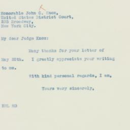 Letter: 1935 May 24