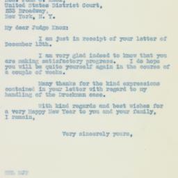 Letter : 1935 December 16