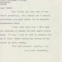 Letter : 1957 October 3