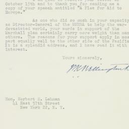 Letter : 1947 November 11