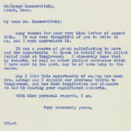 Letter : 1940 August 23