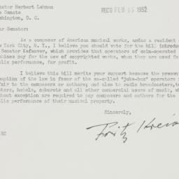 Letter : 1952 February 8