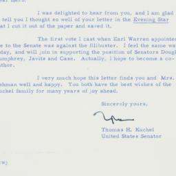 Letter : 1958 December 22