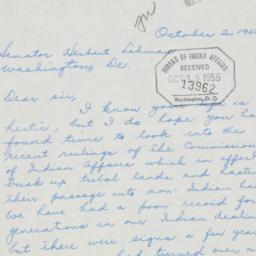 Letter : 1955 October 2