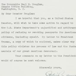 Letter: 1951 October 13