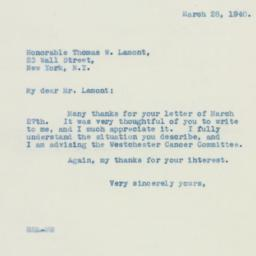 Letter : 1940 March 28
