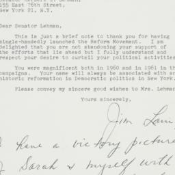 Letter : 1961 November 30