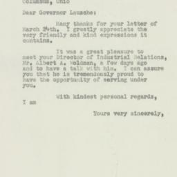 Letter : 1950 March 29