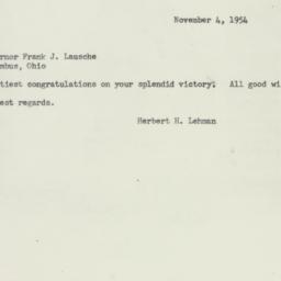 Telegram : 1954 November 4