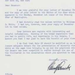 Letter : 1958 December 15