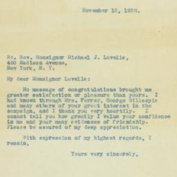 Letter : 1938 November 12