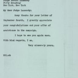 Letter : 1946 September 21