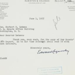 Letter : 1955 June 1