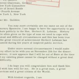 Letter : 1958 October 7