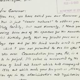 Letter : 1943 February 2