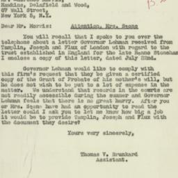 Letter : 1947 August 15