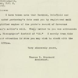 Letter : 1947 August 28