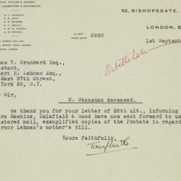 Letter : 1947 September 1
