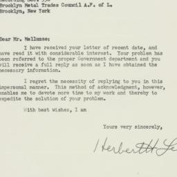 Envelope: 1955 February 15