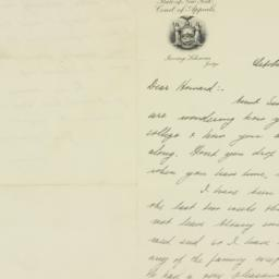 Letter : 1931 October 12