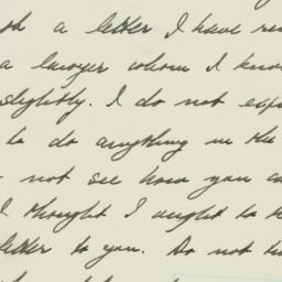 Letter : 1933 July 15