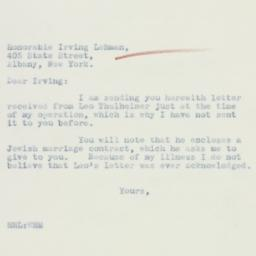 Letter: 1933 December 10