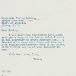 Letter: 1935 October 24