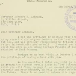 Letter: 1937 March 4