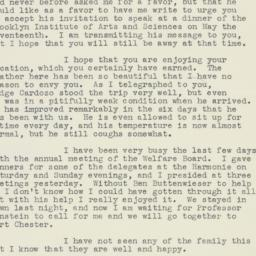 Letter: 1938 May 2