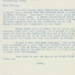 Letter: 1938 August 15