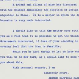 Letter: 1938 September 21
