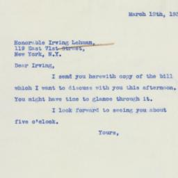 Letter: 1939 March 12